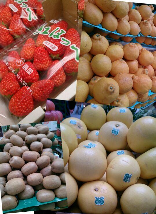 苺、不知火柑、九州産キウイ、晩白柚