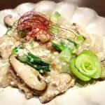 青梗菜とカブの豆腐あん